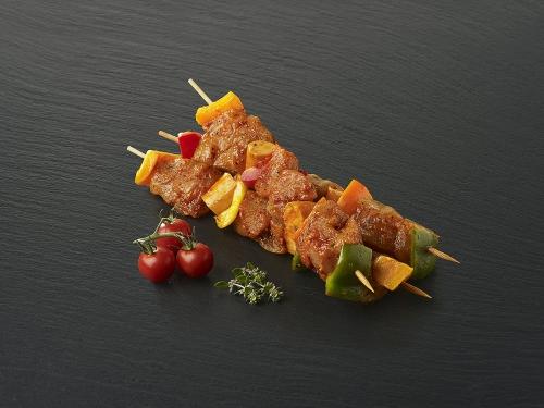 Brochette de poulet marinée Massala